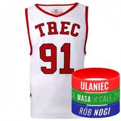 Trec Wear - Koszulka Jersey 008 Biało-czerwona