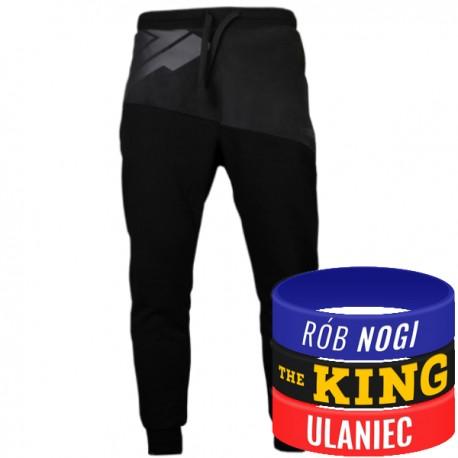Trec Wear - Spodnie dresowe Pants 016 BLACK ON BLACK