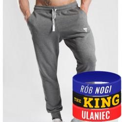 Trec Wear - Spodnie dresowe Pants 040 DARK GREY MELANGE