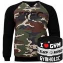 Trec Wear - Bluza Sweatshirt 015 CAMO BLACK