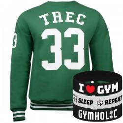 Trec Wear - Bluza Sweatshirt 021 GREEN 33