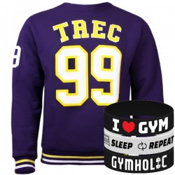 Trec Wear - Bluza Sweatshirt 022 PURPLE 99
