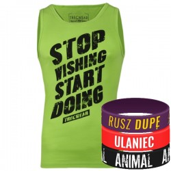 Trec Wear - Koszulka Tank Top 009 STOP WISHING GREEN