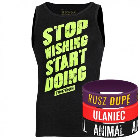 Trec Wear - Koszulka Tank Top 010 STOP WISHING GRAPHITE