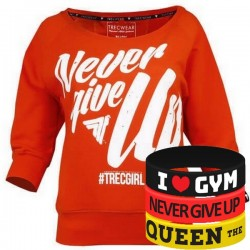 Trec Wear - Bluza Sweatshirt TRECGIRL 001 ORANGE