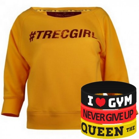 Trec Wear - Bluza Sweatshirt TRECGIRL 002 YELLOW
