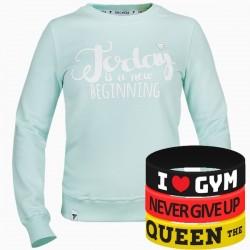 Trec Wear - Bluza Sweatshirt TRECGIRL 005 SPRING MINT
