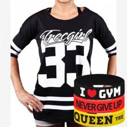 Trec Wear - Koszulka Oversize TRECGIRL 001 BLACK