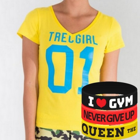 Trec Wear - Koszulka T-Shirt TRECGIRL 004 LEMON