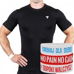Trec Wear - Koszulka treningowa Rashguard Short Sleeve 003 BLACK