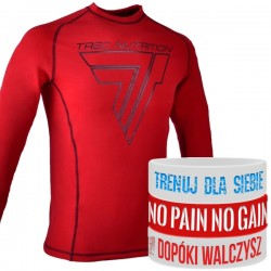 Trec Wear - Koszulka treningowa Rashguard Long Sleeve 004 RED