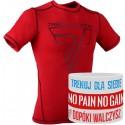 Trec Wear - Koszulka treningowa Rashguard Short Sleeve 005 RED