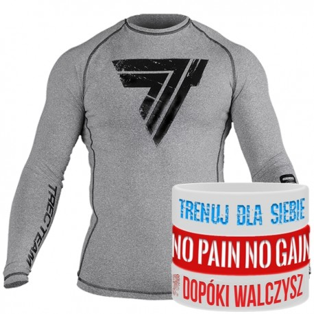 Trec Wear - Koszulka treningowa Rashguard Long Sleeve 007 GRAY