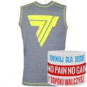 Trec Wear - Koszulka treningowa Rashguard Sleeveless 008 GRAY