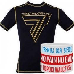 Trec Wear - Koszulka treningowa Rashguard Short Sleeve 010 BLACK