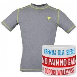 Trec Wear - Koszulka treningowa Rashguard Short Sleeve 011 GRAY