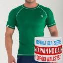 Trec Wear - Koszulka treningowa Rashguard Short Sleeve FLEX 018 GREEN