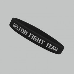 "Beltor - Opaska silikonowa slim ""Beltor Fight Team"" czarna"