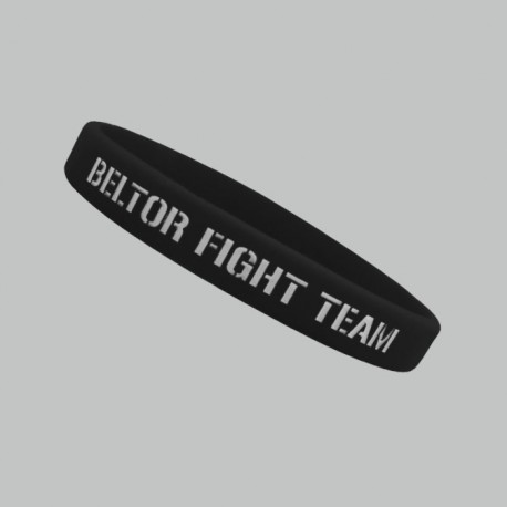 "Beltor Opaska silikonowa slim ""Beltor Fight Team"" czarna"