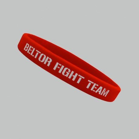 "Beltor Opaska silikonowa slim ""Beltor Fight Team"" czerwona"