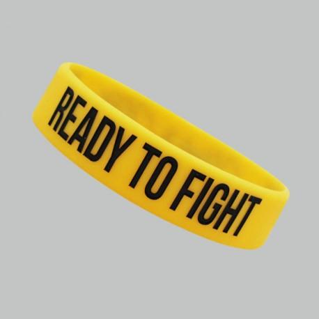 "Beltor Opaska silikonowa ""Ready to Fight"" żółta"