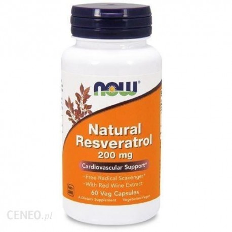 NOW - Natural Resveratrol 200mg 60vkap