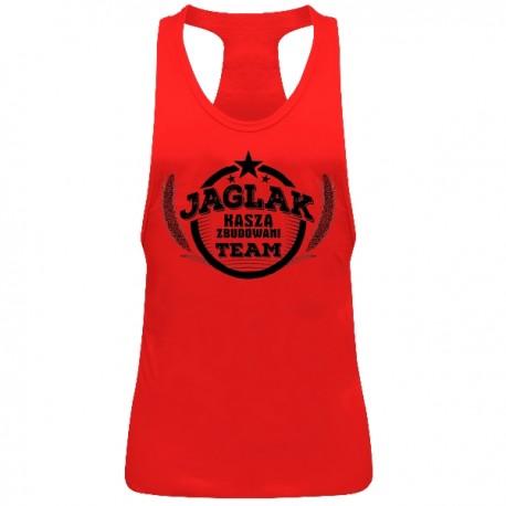 """SportoweSuple.pl - Tank Top 012 """"Jaglak Team"""" czerwony"""