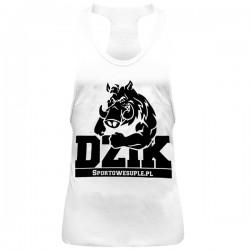 """SportoweSuple.pl - Tank Top 008 """"Dzik"""" biały"""