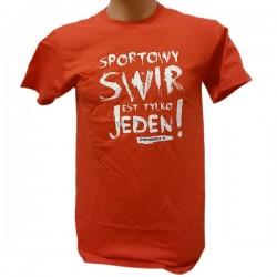 """SportoweSuple.pl - Koszulka 002 """"Sportowy Świr"""" czerwono-biała"""