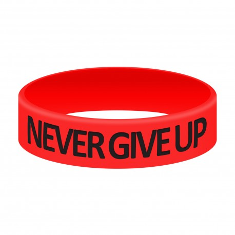 Opaska Silikonowa - Never Give Up