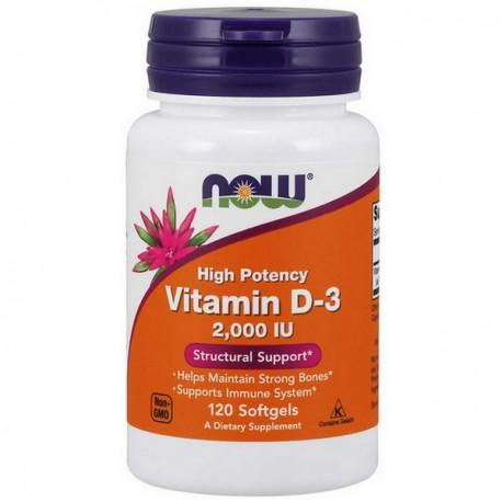 NOW - Vitamin D-3 2000IU 120kap
