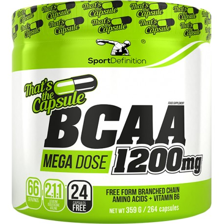 Sport Definition - BCAA 2:1:1 Mega Dose 1200mg 264kap