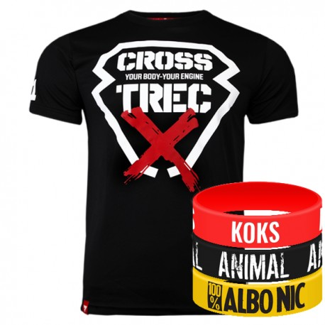 Trec Wear - Koszulka Cooltrec 012 CROSS BLACK