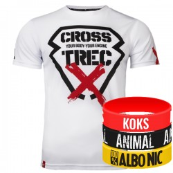 Trec Wear - Koszulka Cooltrec 011 CROSS WHITE